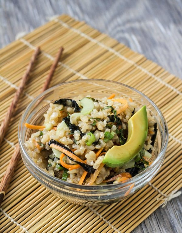 Brown Rice Sushi Salad | Letty's Kitchen