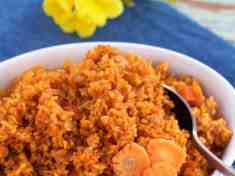 Achiote Red Rice Pilaf