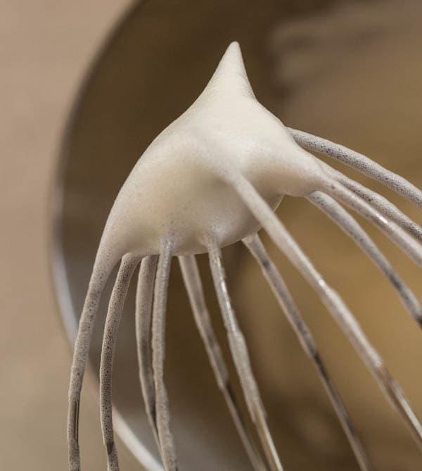 stiff egg whites for Lemon Chiffon Cupcakes