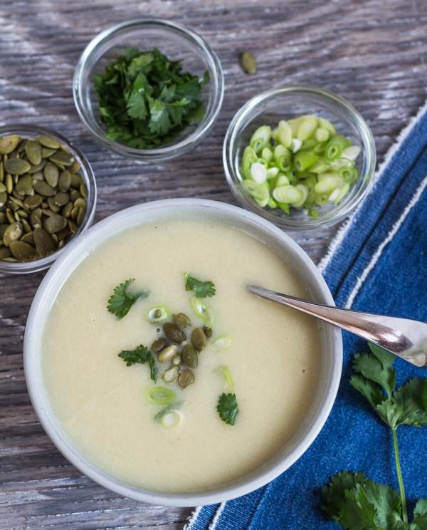Southwestern Cauliflower Soup | Letty's Kitchen