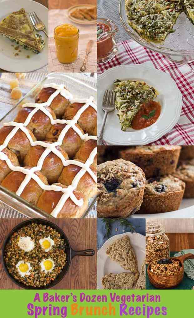 Photo Collage for Vegetarian Spring Brunch Recipes