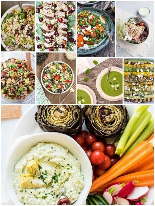 July Seasonal recipe collage