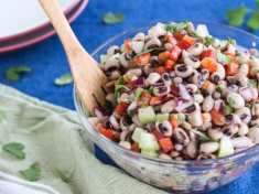 Mexican Black-eyed Pea Salad with Lime Vinaigrette