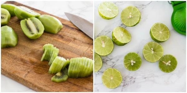 Kiwis and limes for Creamy Vegan Kiwi Lime Avocado Pie   Letty's Kitchen