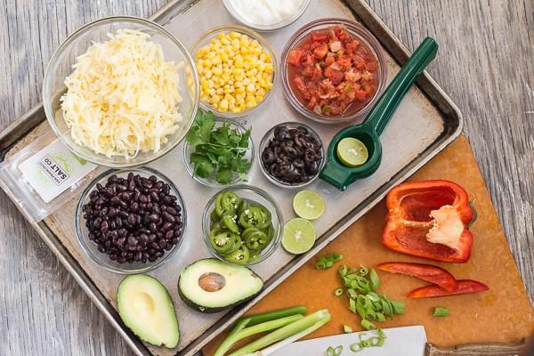 ingredients for Tex-Mex Roasted Potato Nachos | Letty's Kitchen