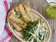 Baked Taquito Flautas with Simple Guacamole