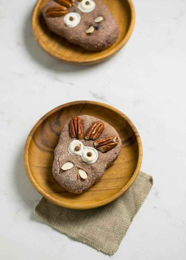 Purple Sweet Potato Monster Biscuits for 16 Healthy Vegetarian Halloween Picks