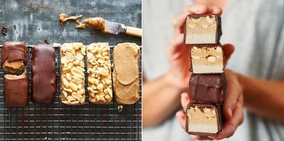 Raw Snickers for 16 Healthy Vegetarian Halloween Picks