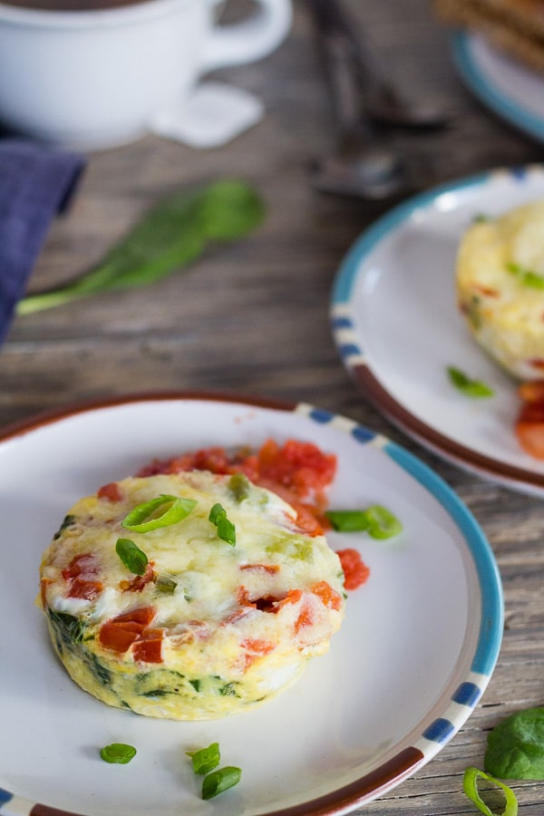 Instant Pot Breakfast Egg Muffins with Parmesan, Spinach, and Tomatoes | Letty's Kitchen
