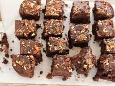 Vegan Gluten Free Chocolate Pecan Brownies