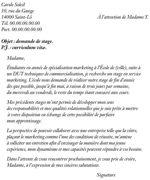 Stagehand Resume Examples: Cover Letter Example: Exemple De Lettre De Motivation Pour