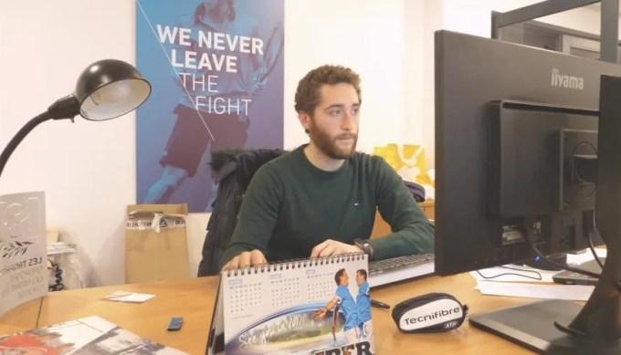 Anthony anime l'image de Tecnifibre sur les réseaux sociaux. //©Assia Hamdi