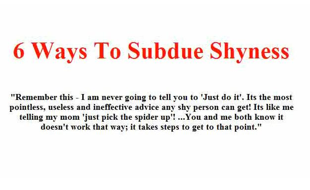 Quotes About Overcoming Shyness Quotesgram