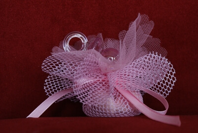 Geboortebedankje 'Speen' (Roze)