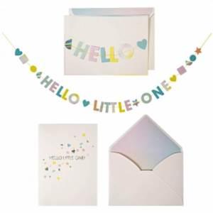 De leukste kraamcadeaus voor de geboorte van een baby - Meri meri hello slinger