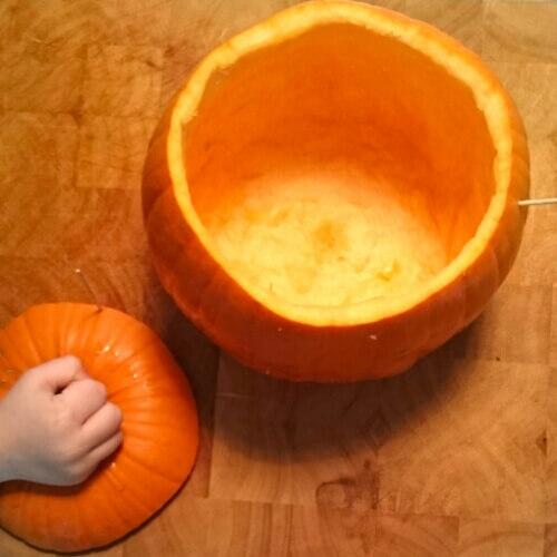 Halloween-lampion knutselen met kinderen + recept