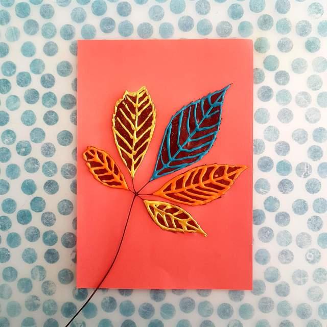 Herfst knutselen: bladeren beschilderen
