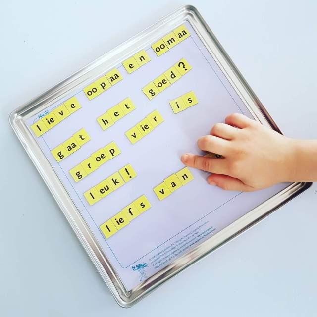 Tip: de magnetische spellingsdoos van de Gorgels #leukmetkids