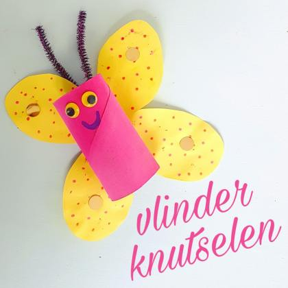 Vlinders knutselen met wc rollen #leukmetkids