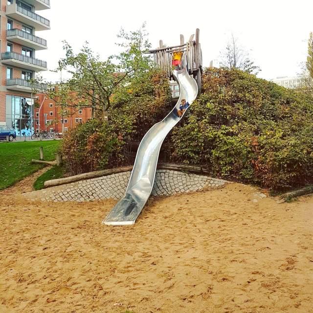 Hamburg met kids Hafencity speeltuin Lohsepark