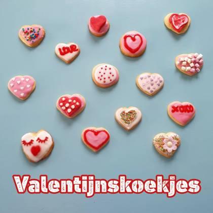 Koekjes bakken voor Valentijnsdag