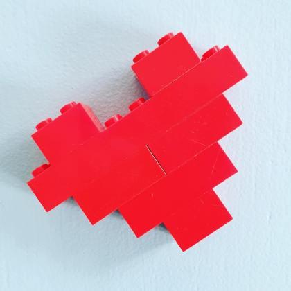 Hartje van Lego voor Moederdag en Vaderdag