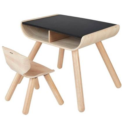 Plan toys houten kinderbureau met stoeltje
