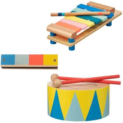 Goedkoop én duurzaam houten speelgoed: gespot muziekinstrumenten bij de Hema