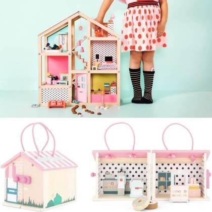 Goedkoop én duurzaam houten speelgoed: poppenhuis, poppenhuispoppen en poppenmeubels gespot bij de Hema