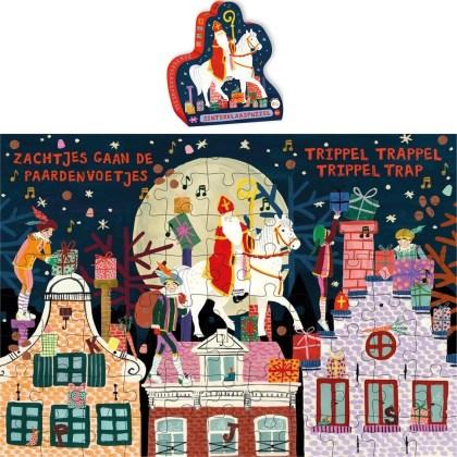 Deze mooie Sinterklaaspuzzel is het voor het goede doel. De netto prijs van deze puzzel gaat namelijk naar het Pinses Maxima Centrum! Het formaat is 42 bij 30, de puzzel heeft 88 stukjes en is geschikt vanaf 4 jaar
