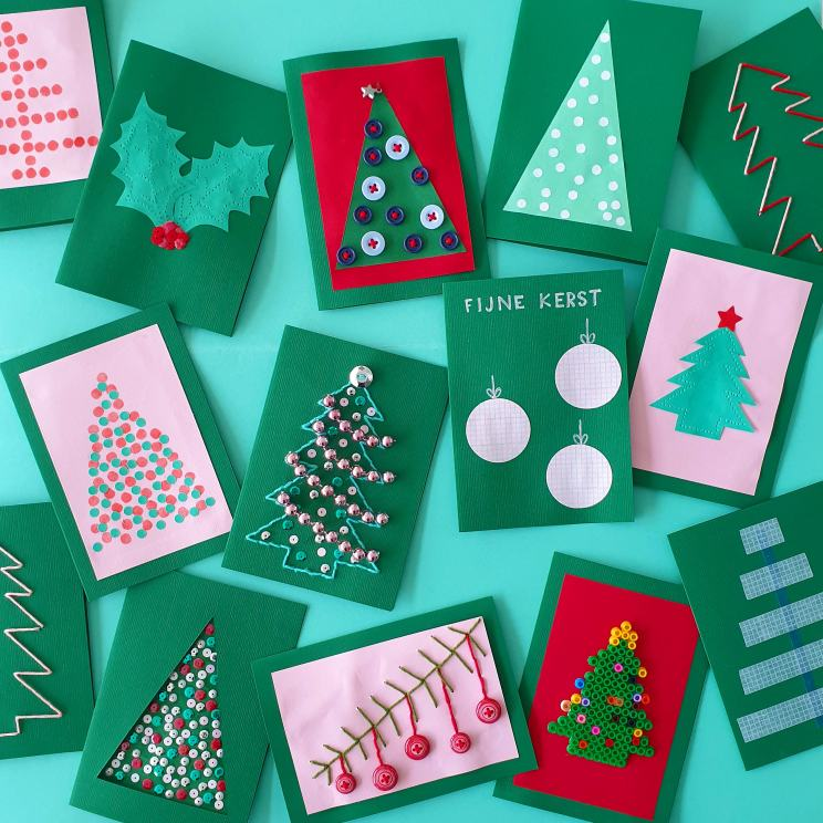 Kerstkaarten knutselen met kinderen: leuke ideeën