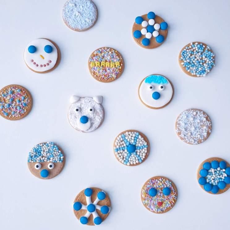 Winter koekjes bakken en versieren