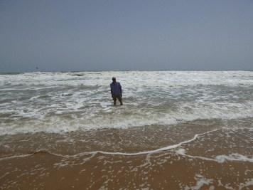 Abkühlung im Meer