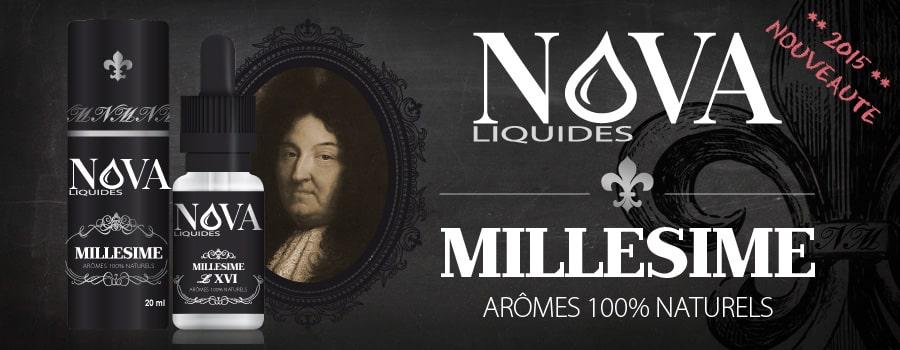 La gamme Millésime de Nova liquides en exclusivité dès le 4 mai !