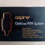 "RTA SYSTEM ""ASPIRE CLEITO 120"" [VapeMotion]"
