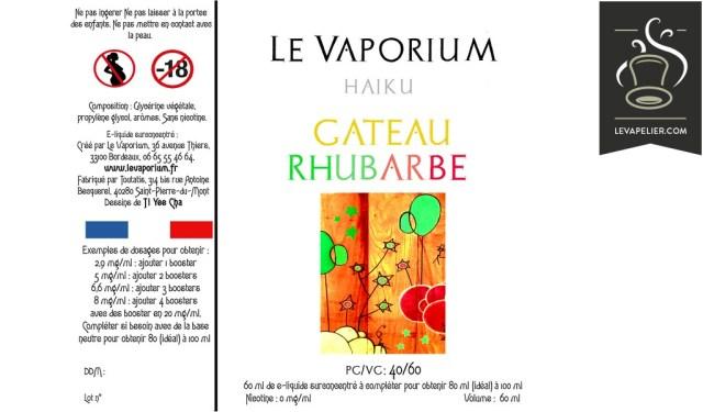 Gâteau Rhubarbe (Gamme Haiku) par Le Vaporium