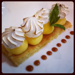 Sablé breton façon tarte aux citrons meringuées