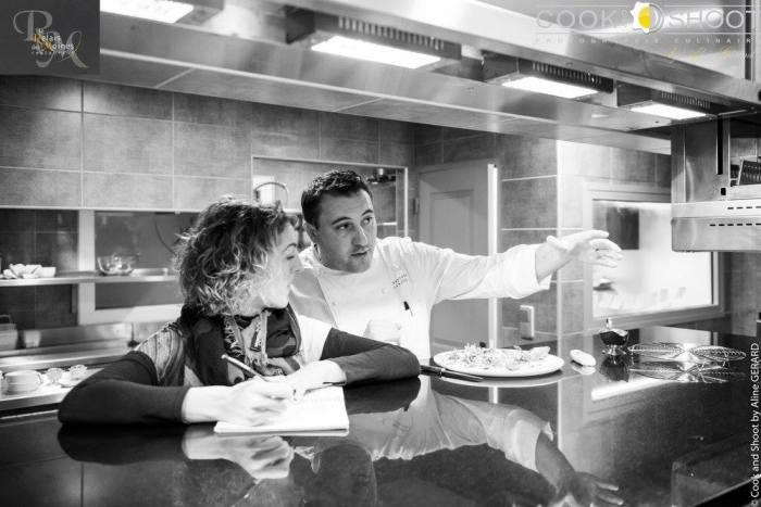 Marie Tabacchi, Le Var des Gastronomes, avec le chef Sébastien Sanjou. Photo Aline Gérard, copyright @Cook&Shoot