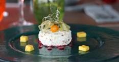 En dessert, nougat glacé aux figues