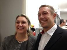 Sandrine Lelièvre et Jonny Wilkinso