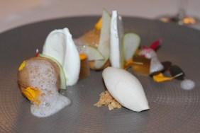 Côté Rue, Draguignan. La Pomme, sur l'idée d'une Tatin, gelée de pomme et cidre, glace à la fève de Tonka