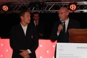 Jonny Wilkinson et Bernard Laporte