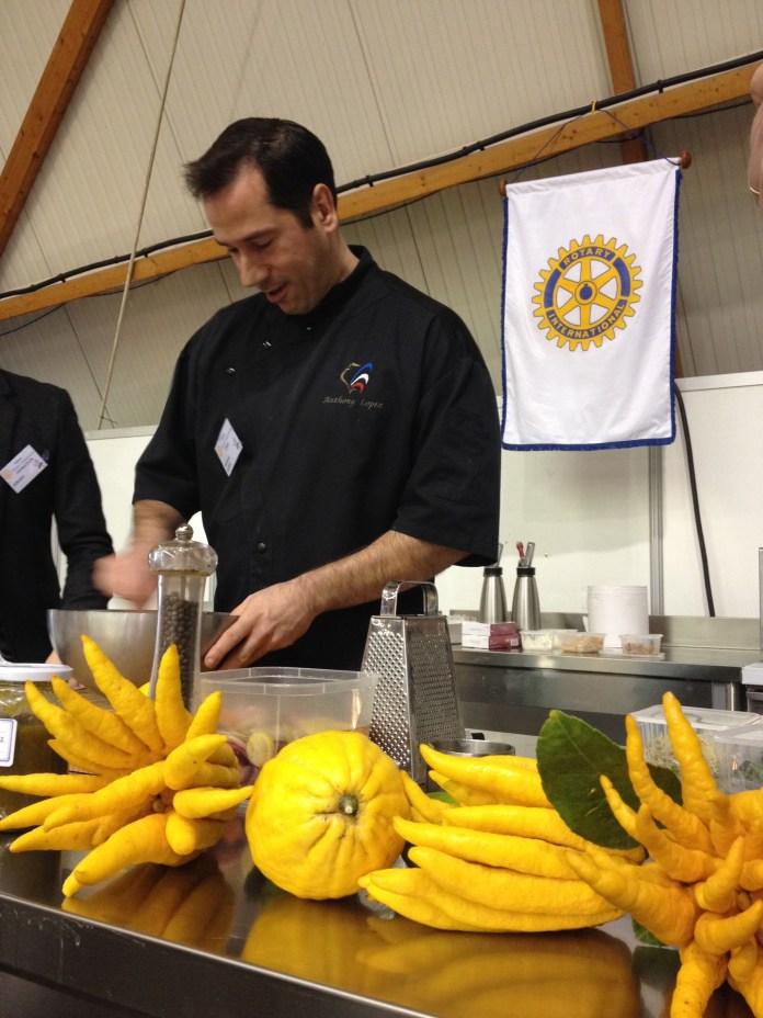 Anthony Lopez en démonstration, Salon Terroir et Gastronomie 2014