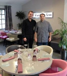 Stéphane Bail, en salle, et Serge Olive, en cuisine