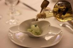 Granité à la fleur de thym, sorbet fenouil de Florence, Une flanquée d'absinthe