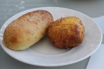 Pain à l'huile d'olive, Sel de Guérande et marjolaine, Pain au maïs