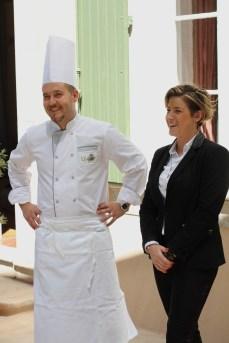 Le chef Arnaud Bouxirot et Manon Corriol, maître d'hôtel