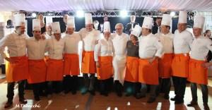 14 chefs de la région PACA autour d'Alain Ducasse, président Châteaux & Hôtels Collection