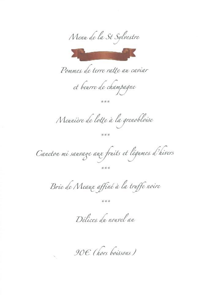 La Table de Bruno à Saint-Maximin, Nouvel An