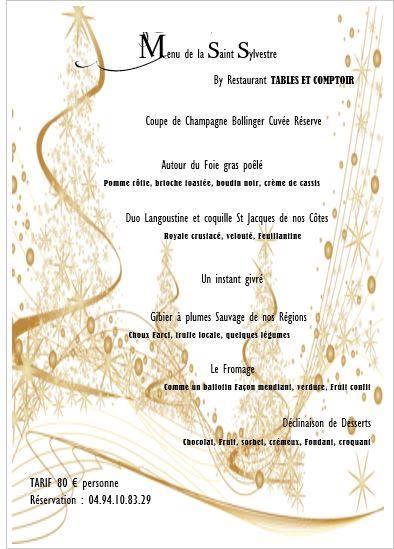 Tables & Comptoir, Toulon, Nouvel An